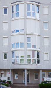 Der Eingang zu unserem Kosmetikstudio in Freiburg